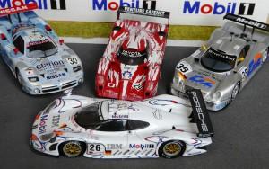 1:43-Modelle der wichtigsten Konkurrenten um den Le Mans-Sieg 1998