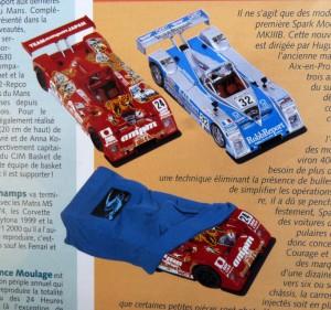 """Die ersten Spark-Modelle, vorgestellt in """"Auto Modelisme"""",Ausgabe September 2000"""