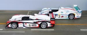 Vierter und fünfter Sieg des Audi R8 in Le Mans: 2004 - Team Goh, 2005 - Team Champion (Modelle von IXO)