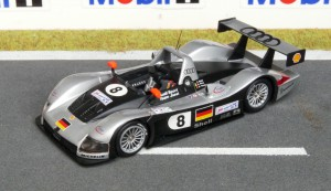 Erster Audi R8 des Joest Racing Teams in Le Mans 1999 (Modell: Minichamps)