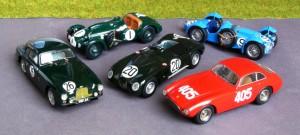 Erfolgreiche Sportwagen 1951 als Modelle in 1:43