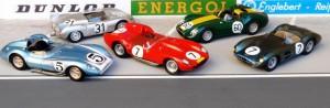 Sportwagen des Jahres 1958 und Modelle in 1:43: