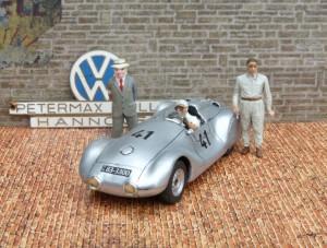 Petermax Müller VW Spezial, Eigenbau des Fahrzeugs von 1949 in 1:43 von Louis Models (Einzelstück)