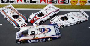 4 Le Mans-Siege mit Porsche: 936/1976 (Modell: Trofeu), 936/1977 (Solido), 936/1981 (Minichamps), 956/1982 (Record)
