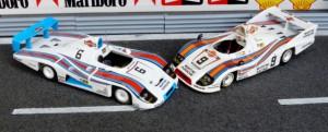 Zweite Plätze in Le Mans Porsche 936/78 (Le Mans 1978, Minichamps), Porsche 908-80 Joest (Le Mans 1980, Minichamps)