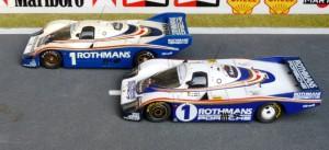 Gruppe C-Weltmeister 1982 mit Porsche 956, vorn Le Mans-Sieger (Record), hinten: Silverstone (Record)
