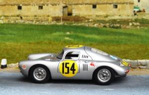 Porsche 550 Coupé Carrera Panamericana 1953 (True Scale), auf schmalere Felgen umgerüstet (Felgen von einem Porsche 550A Spyder-Billigmodell)