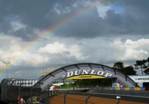Le Mans 2013 - Dunlop- und Regenbogen