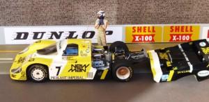 Porsche 956-117 Joest Racing, Le Mans-Sieger 1984, hier Modell in 1:24 von Tamija