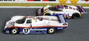 Le Mans 1987: Sieger Stuck, Bell und Holbert mit dem 962C (Modell: Starter)