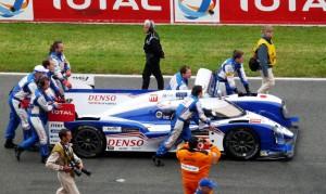 Auf dem Weg zur Startaufstellung: Toyota TS 030