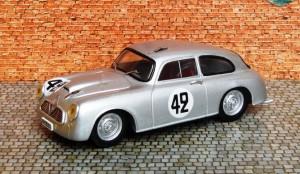 Borgward 1500 RS Hansa Coupé, Le Mans 1953 (Resincast von Swiss Mini 43)