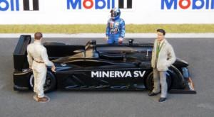 Minerva-SV Testfahrzeug auf der Rennstrecke