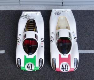 Porsche 907L Le Mans 1967, links Spark, rechts Ebbro