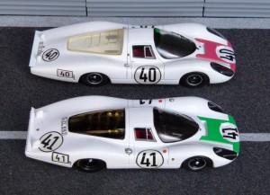 Porsche 907L LOe Mans 1967, vorn Spark, hinten Ebbro