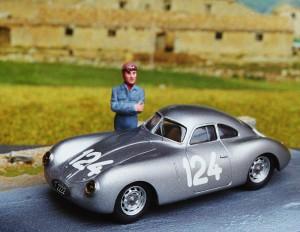 Porsche Typ 64 Mathé, Coppa dÓro delle Dolomiti 1951 (Resine-Bausatz von Vroom)