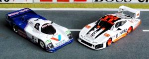 Porsche 962 IMSA Daytona 1985, Porsche 935L Daytona 1983 - Siege des Preston Henn Teams in Daytona (beide Modelle von Spark)